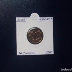 Monnaies anciennes d'Amérique: BRASIL 2000, 10 CENTAVOS, KM-649.2, SC-UNC. Lote 98425539