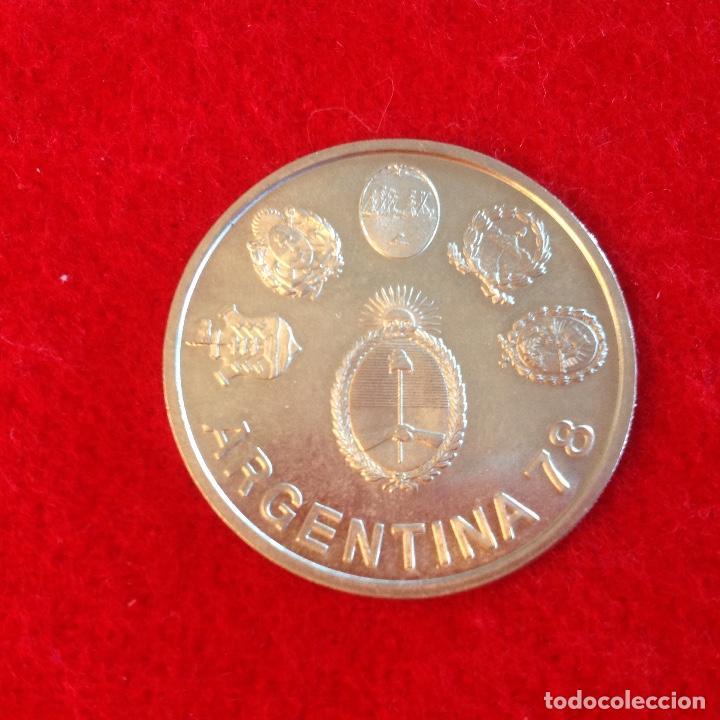 MONEDA DE PLATA, 2000 PESOS 1977, EDITADA PARA EL MUNDIAL ARGENTINA 78, PROFF, PRUEBA (Numismática - Extranjeras - América)