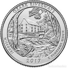 Monedas antiguas de América: ESTADOS UNIDOS / U.S.A ¼ QUARTER DOLLAR 2017 RÍOS DE OZARK ( MISSOURI ) P. Lote 98885263