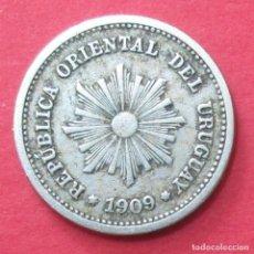 Monedas antiguas de América: URUGUAY. MONEDA DE 1 CENTÉSIMO. 1909.. Lote 99080499