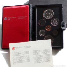 Monedas antiguas de América: ESTUCHE , SET, CANADA 1980 CON GARANTIA , 7 MONEDAS, DOLAR DE PLATA. Lote 99449743