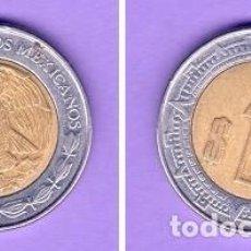 Monedas antiguas de América: 1 UN PESO MEXICANO MONEDA KM# 603 DEL AÑO 2001 CIRCULADA NUMISMÁTICA MÉXICO. Lote 101153191