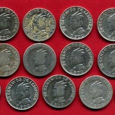 Monedas antiguas de América: LOTE DE 19 MONEDAS PLATA , 20 CENTAVOS DE LEMPIRA , HONDURAS , ORIGINALES , A18. Lote 101460879