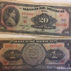 Monedas antiguas de América: LOTE DE BILLETES MEXICANOS USADOS. Lote 101572203