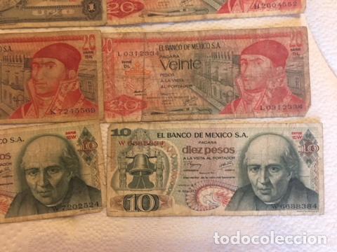 Monedas antiguas de América: LOTE DE BILLETES MEXICANOS USADOS - Foto 2 - 101572203