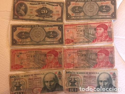 Monedas antiguas de América: LOTE DE BILLETES MEXICANOS USADOS - Foto 3 - 101572203