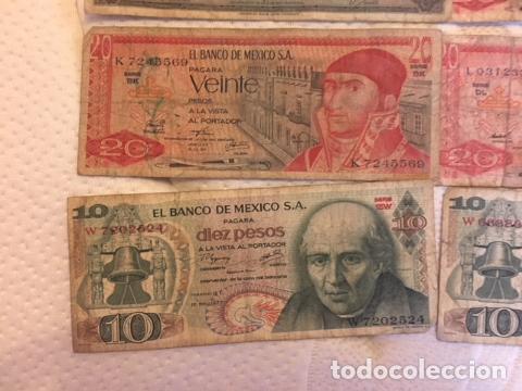 Monedas antiguas de América: LOTE DE BILLETES MEXICANOS USADOS - Foto 4 - 101572203