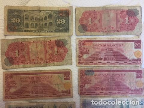 Monedas antiguas de América: LOTE DE BILLETES MEXICANOS USADOS - Foto 5 - 101572203