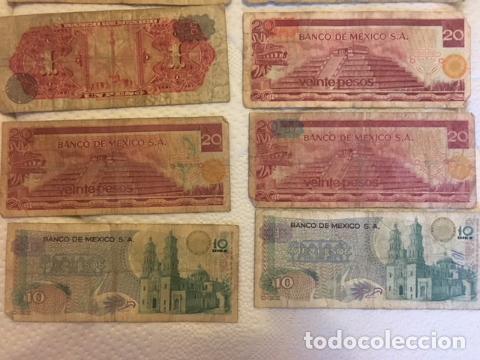 Monedas antiguas de América: LOTE DE BILLETES MEXICANOS USADOS - Foto 6 - 101572203