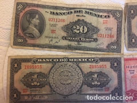 Monedas antiguas de América: LOTE DE BILLETES MEXICANOS USADOS - Foto 8 - 101572203