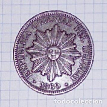URUGUAY. 4 CENTÉSIMOS 1869. (Numismática - Extranjeras - América)
