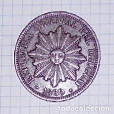 Monedas antiguas de América: URUGUAY. 4 CENTÉSIMOS 1869.. Lote 101647587