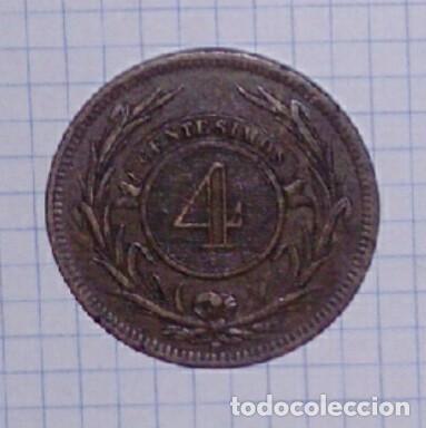 Monedas antiguas de América: URUGUAY. 4 CENTÉSIMOS 1869. - Foto 2 - 101647587