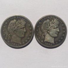 Monedas antiguas de América: DOLAR USA 1892 Y 1893 DE DOS CARAS IGUALES CON MORGAN. Lote 164110952