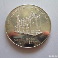 Monedas antiguas de América: MEXICO * MEDALLA MONUMENTOS MEXICANOS * SANTA ROSA QUERETARO 1963* PLATA. Lote 101966663