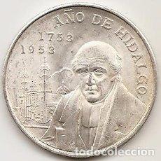 Monedas antiguas de América: MEJICO 1953. 5 PESOS DE HIDALGO DE PLATA. TIPO MONEDA DE DURO. MBC+ O SC. Lote 102059799