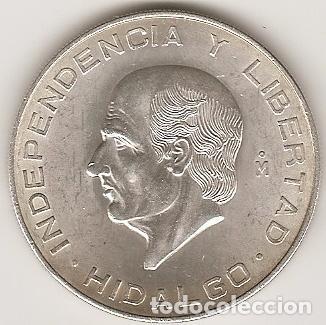 MEJICO 1956. 10 PESOS HIDALGO DE PLATA.MBC+ O SC. MONEDA TIPO DURO. (4) (Numismática - Extranjeras - América)