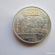 Monedas antiguas de América: MEXICO * 100 PESOS 1985 * COPA MUNDIAL DE FUTBOL 1986 * PLATA. Lote 102077811