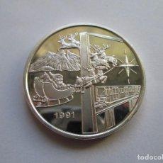 Monedas antiguas de América: MEXICO * 1 ONZA 1991 * FELIZ NAVIDAD Y AÑO NUEVO * PLATA. Lote 102078563