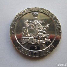 Monedas antiguas de América: MEXICO * MEDALLA IX CAMPEONATO MUNDIAL DE FUTBOL 1970 * PLATA. Lote 102089079
