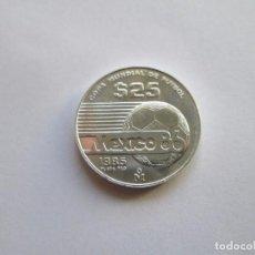 Monedas antiguas de América: MEXICO * 25 PESOS 1985 * COPA MUNDIAL DE FUTBOL 1986 * PLATA. Lote 102091015