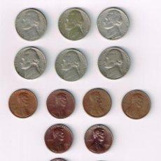 Monedas antiguas de América: 17 MONEDAS DE ESTADOS UNIDOS. Lote 102778763