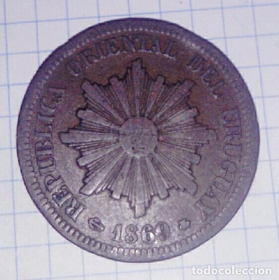 URUGUAY. 2 CENTÉSIMOS 1869. (Numismática - Extranjeras - América)