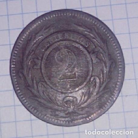 Monedas antiguas de América: URUGUAY. 2 CENTÉSIMOS 1869. - Foto 2 - 102830915
