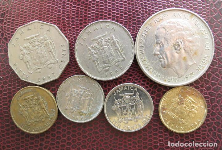 Jamaica 7 monedas 1 penny 1966 10 10 50 cent 1 - Sold at
