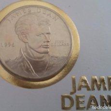 Monedas antiguas de América: BONITA CARTA NUMISMATICA NUMISBRIEF CON MONEDA DE FIVE DOLLARS 1996 CONMEMORATIVA A JAMES DEAN. Lote 103190235