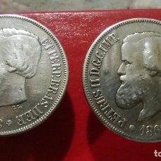 Monedas antiguas de América: GEMELOS PLATA. MONEDAS DE PLATA DE PEDRO II - D.G.C.I.M.P 500 REIS . BRASIL 1868. Lote 103392415