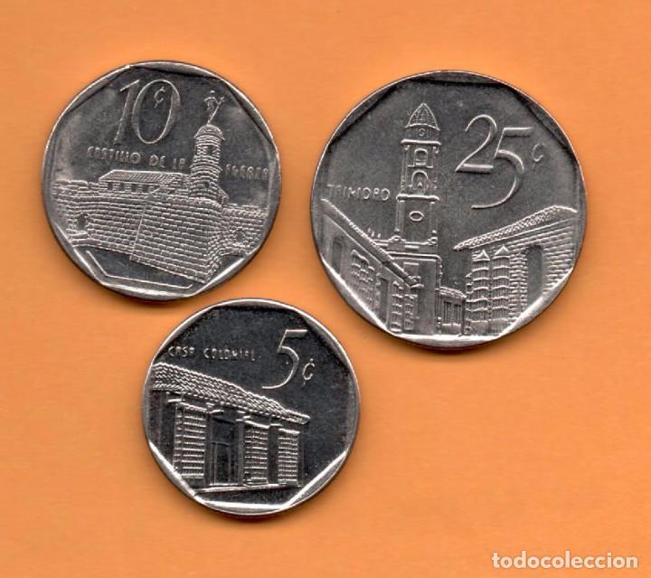 CUBA - LOTE 3 MONEDAS SC (Numismática - Extranjeras - América)