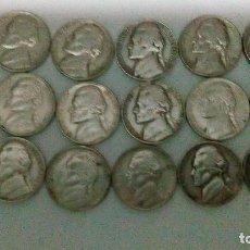 Monedas antiguas de América: 16 MONEDAS DE 5 CENTAVOS DE DÓLAR DE LOS AÑOS 90,95,64,88,95,63,75,81,87,85,70,78,60,94,76,91. Lote 103643739