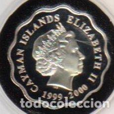 Monedas antiguas de América: CAYMAN ISLANDS - 2 DOLARES DE PLATA 1999-2000 MILLENNIUM CERTIFICADO DE GARANTIA . Lote 103725699