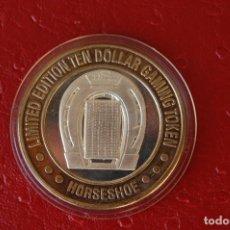 Monedas antiguas de América: EE. UU: GAMING TOKEN DE PLATA FICHA DE JUEGO DE HERRADURA DE $ 10, SILVER .999,. Lote 104057075