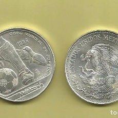 Monedas antiguas de América: PLATA-MEXICO 50 PESOS 1985 MUNDIAL 1986 15,55 GRAMOS LEY 0.720. Lote 104280775