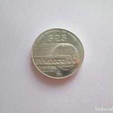 Monedas antiguas de América: MEXICO * 25 PESOS 1985 * COPA MUNDIAL DE FUTBOL 1986 * PLATA. Lote 104410659