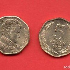 Monedas antiguas de América: CHILE - 5 PESOS 1992 SC KM232. Lote 104512491