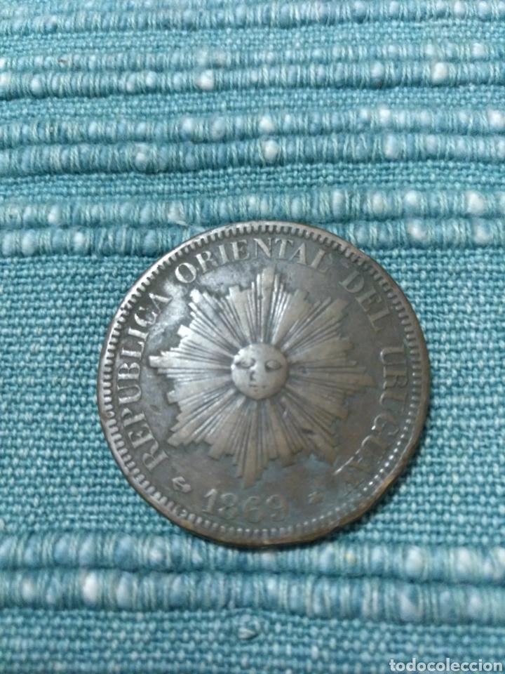RAROS 4 CENTESIMOS 1869 URUGUAY (Numismática - Extranjeras - América)