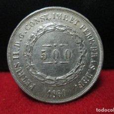 Monedas antiguas de América: 500 REIS 1860 PEDRO II BRASIL PLATA. Lote 104808335