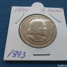 Monedas antiguas de América: MEDIO DOLAR 1893 PLATA. Lote 105085884