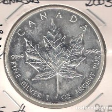 Monedas antiguas de América: MONEDA DE 5 DÓLARES (ONZA) DE CANADÁ DE 2003. PLATA. SIN CIRCULAR. WORLD COINS-KM187. (ME908). Lote 105178839