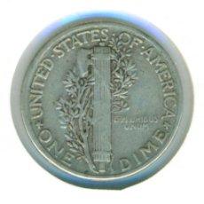 Monedas antiguas de América: ESTADOS UNIDOS AMERICA USA EEUU ONE DIME (MERCURY) 1945 ( MBC- ) - SIN CECA - PLATA. Lote 105627815