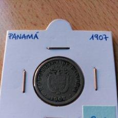 Monedas antiguas de América: PANAMÁ 2 ½ CENTÉSIMOS 1907. Lote 105874675