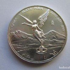 Monedas antiguas de América: MEXICO * 1 ONZA DE PLATA PURA 2002. Lote 106636071