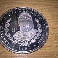 Monnaies anciennes d'Amérique: CUBA. 5 ONZAS DE PLATA PURA DE 1990. V CENTENARIO. Lote 107029319