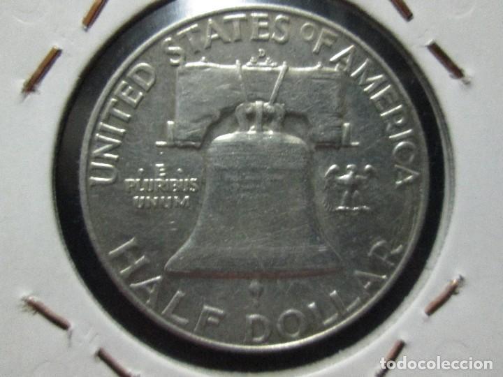 Monedas antiguas de América: half dollar 1957 plata - Foto 2 - 107274999