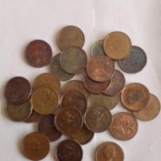 Monedas antiguas de América: CANADA, LOTE DE 28 MONEDAS DE 1 CENT. Lote 107727231