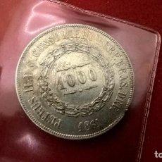 Monedas antiguas de América: 1000 REIS DE PEDRO II 1861 ( BRASIL ) 13 GR -S/C. PLATA. Lote 107779471