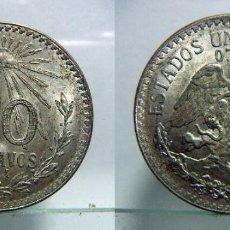 Monedas antiguas de América: MONEDA DE MÉJICO 50 CENTAVOS 1944 PLATA. Lote 107824623